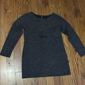 Sweater dress with cutout